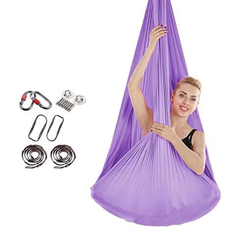 YOGATUTU Aerial Yoga Swing Yoga Hammock,Aerial Kit,Large Inversion Air Fly Sling Set,Hammock/for Indoor and Outdoor-6.5m