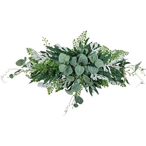 Heritan Greenery Swag - Guirnalda de puerta frontal artificial colgante de hojas de eucalipto para el hogar, ventana, pared, boda, decoración de arco