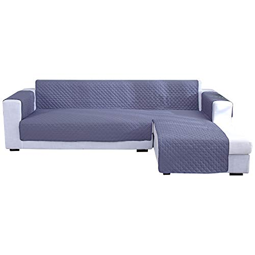 laamei Funda para Chaise Longue Funda de sofá Impermeable y Reversible Apta para Chaise Longue Izquierda o Derecha Color Sólido