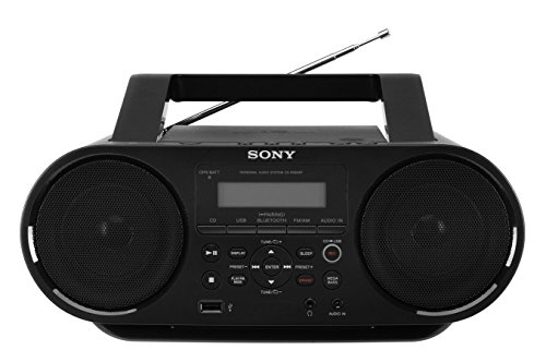 Sony ZSRS60BT CD Boombox with Bluetooth and NFC - Includes a GTR GROUP CD cleaner
