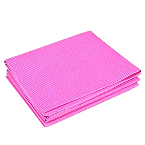 Anyutai - Esterilla de yoga plegable de PVC, grosor 7 mm, color rosa