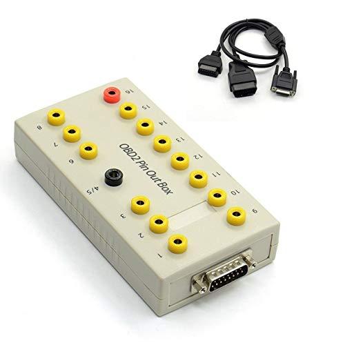 LasVogos OBD2 Pin Out Box Breakout Tester Auto Diagnostische Pinout Auto Protocol Detector