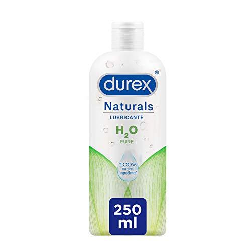 Durex Naturals H2O Lubricante Base Agua, 100{a1e3c6b98b23df24b1f4c5a86d30afcd2533c77e1244eb74436aa937e1849eab} Natural Sin Fragancia, Colorantes ni Agentes Irritantes – 250ml