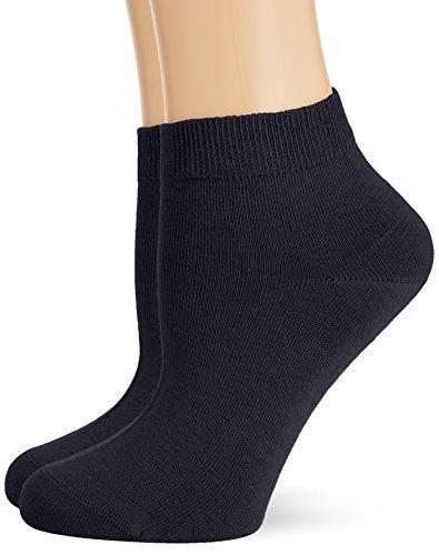 Hudson Damen Sneaker Socken, 025001 Only, 2er Pack, Gr. 35/38, Blau (Marine 0335)