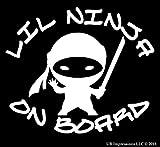 UR Impressions Lil Ninja on Board calcomanía de Vinilo para Coches,...