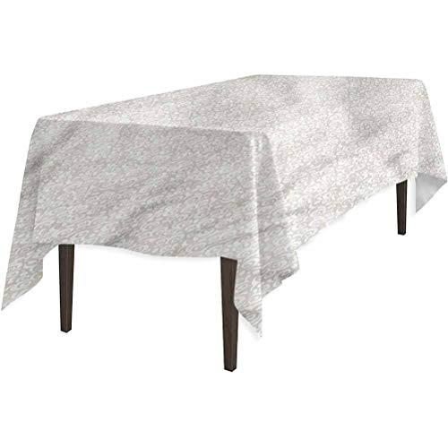 Mantel de tela rectangular, diseño de espirales abstractos, color beige, protector de mesa, 132 x 177 cm