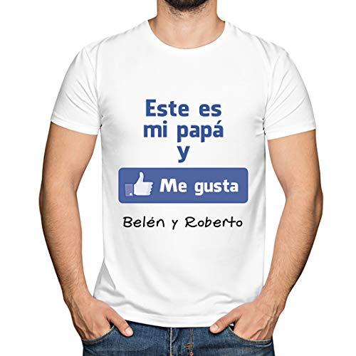 Calledelregalo Regalo para Padres por su cumpleaños, Navidad o el Día del Padre: Camiseta Personalizada Blanca