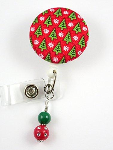 Christmas Tree's - Nurse Badge Reel - Retractable ID Badge Holder - Nurse Badge - Badge Clip - Badge Reels - Pediatric - RN - Name Badge Holder