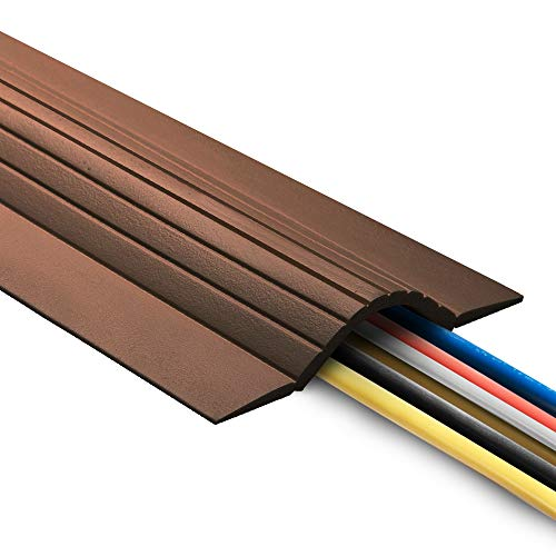 UT Wire 5'Cable Blanket High Capacity Low Profile Cord Cover and Protector, Brown