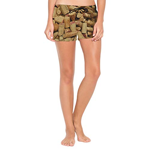 Red Wine Cellar Cork Women's Beach Pants Board Short with Built-in Liner