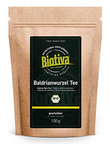 Baldrianwurzel Tee Bio 100g - Valerianae Radix - Baldrian - Kräutertee - abgefüllt in Deutschland (DE-ÖKO-005) - vegan