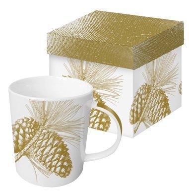 Trend Mug Becher Tasse Henkelbecher Engraved Pine Cone in Geschenkbox von PPD