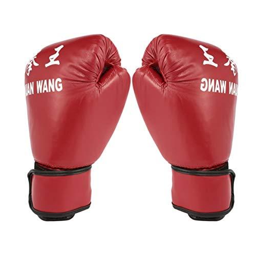 Kongqiabona-UK Erwachsene Boxhandschuhe Rot & Schwarz Professionelle Sandsack-Innenhandschuhe Kickbox-Handschuhe Männer Frauen Training Kampf-Werkzeug rot