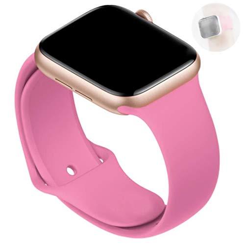 Correa de silicona suave para Apple Watch 6 Series SE 5 4 3 2 1 44MM 40MM Correa de caucho para reloj iWatch 4/5 42MM 38MM Pulsera