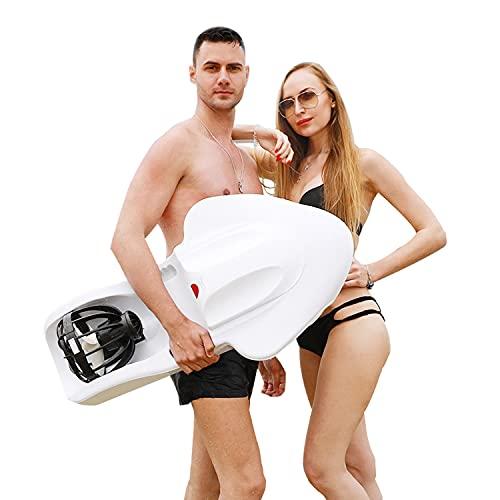 YUYTIN Tabla de Surf eléctrica para Adultos, Scooter subacuático con batería de 3200W 36V 12Ah Velocidad de rotación de 4 Niveles para Nadar, Surfear, inmersiones Poco Profundas