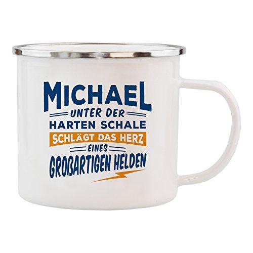 History & Heraldry Echter Kerl Emaille Becher, Michael, Mehrfarbig