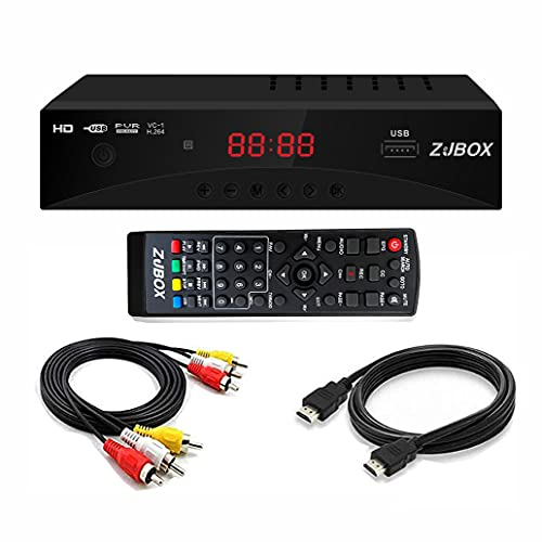 Digital TV Converter Box, ATSC Cabal Box - ZJBOX for Analog HDTV Live1080P with TV Recording&Playback,HDMI Output,Timer Setting TV Tuner Function Set Top Box Digital Channel Free