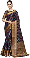 COTTON SHOPY Women's Banarasi Art Silk Blend Saree With Blouse Piece