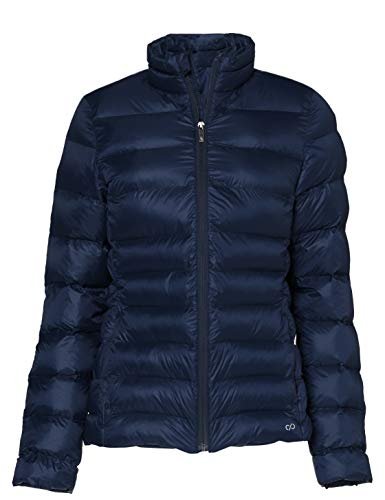 CARE OF by PUMA Chaqueta acolchada impermeable para mujer, Azul (Blue), 42, Label: L