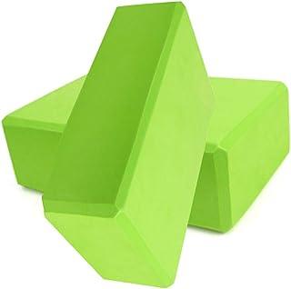 "AngelReally 2 Pack Yoga Blocks High Density, 9""x6""x3"" EVA Foam Blocks for Yoga/Pilates/Meditation/Stretching, Non-Slip Sur..."