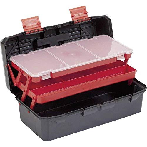Alutec Werkzeugkoffer aus Kunststoff, freischwingende Werkzeugeinlagen/Fächer, Maße: (L x B x H)...