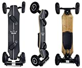 KYNG Electric Skateboard 40' Longboard Mountain Board with Wireless LCD Handheld Remote Youth and Adults Off Road Skateboard 1650W Dual Motor 25 MPH 10 Layer Maple Deck 12-15 Mile Range