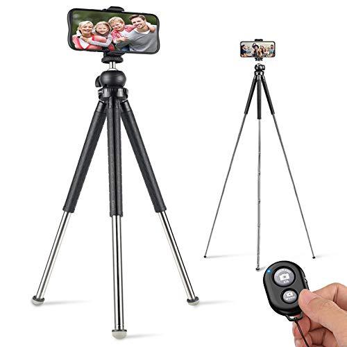 Coolwill RL2086 - Treppiede da viaggio con telecomando senza fili, 39,5 pollici, leggero e portatile, con supporto, per iPhone, Samsung, Huawei, Micro Single Camera