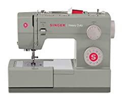 SINGER HEAVY DUTY SEWING MACHINE: The SINGER Heavy Duty 4452 sewing machine boasts an array of features that make creating elegant garments and gifts for yourself and others fun and exciting. The Sewing machine with 32 built-in stitches includes 6 Ba...
