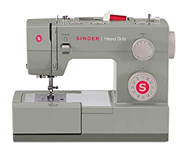 SINGER | Heavy Duty 4452 Sewing Machine with 110 Stitch Applications, Metal Frame, Built-In Needle Threader, & Heavy Duty Accessory Kit - Sewing Made Easy