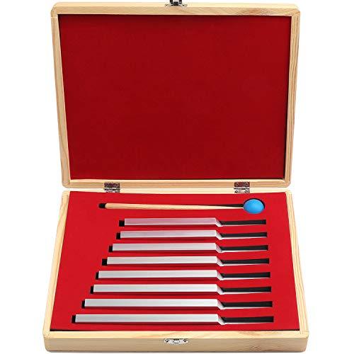 Coolty Aluminium Stimmgabel Set. 8 Stück Gabeln & mit Mallet Hammer Ball, Mallet Medizinische Instrumente, Tuning Vibration Sound Therapy Tool Set