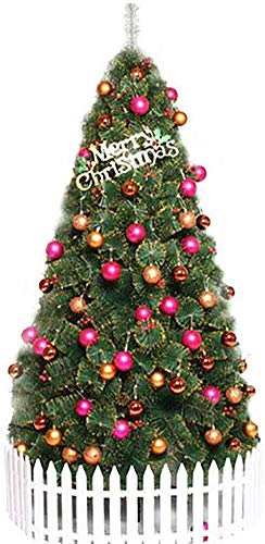 YUXO Artificial Christmas Trees with Metal Stand Indoor Outdoor Holiday Decorations Big Large Decor for Gift Hanging (Color : Green, Size : 10ft/300cm)