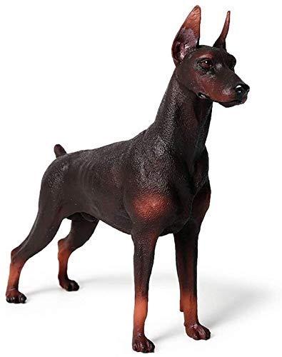 Muebles para El Hogar Adorno Escultura Estatua Estatuilla Antigüedades Coleccionables Artesanía Doberman Pinscher Modelo Mascota Perro Estatuilla Animal Colección para El Hogar Juguetes para N