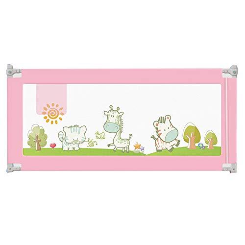 Barriere De Securite Enfant Lit Extra Long Anti-Chute Sécurité Sommeil Bébé Garde-Corps De Lit Plein Reine Roi,Taille 5 LIANGJUN (Color : Pink, Size : 200cm)