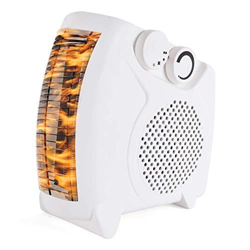 DYB Chimenea eléctrica Interior, Calentador de Ventilador eléctrico 2000W de Baja energía Mini Calentador de Ventilador portátil de pie para el hogar Cama Cama Escritorio Carpas Refrigerador