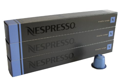 Nespresso Kapseln blau 30 Kaffeekapseln 3 x 10 Kapseln Vivalto Lungo