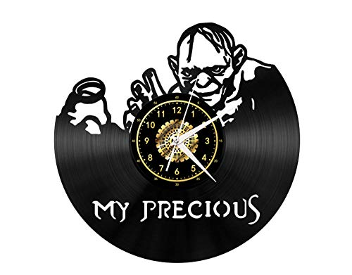 SKYTY Vinyl Wanduhr Fiktionale Figur kostbar - Retro-Atmosphäre Silhouette Rekord handgemachtes Geschenk Cool Home Art Decor kein LED-Licht 12 Zoll