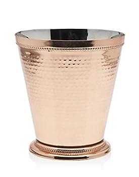 Godinger Hammered Beaded Vase Copper