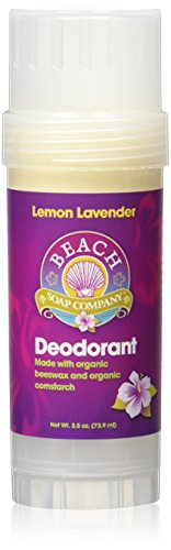 Lemon Lavender Certified Organic Deodorant - Aluminum, Talc, and Paraben Free. Made and sold by Beach Organics. 2.5 oz.