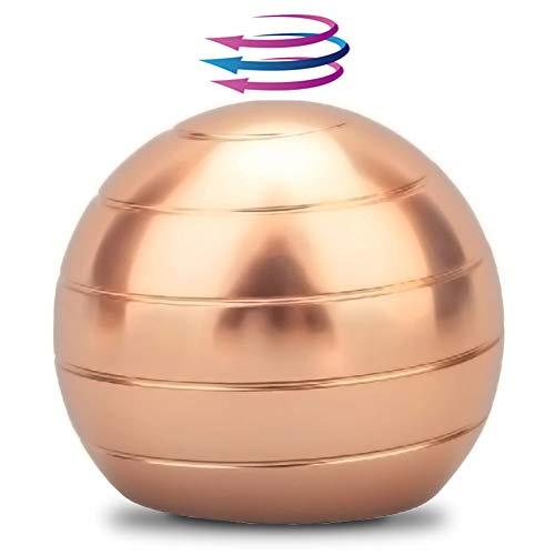 """DBlosp Kinetic Desk Toys,Full Body Optical Illusion Fidget Spinner Ball,Gifts for Men,Women,Kids 1.8""""/4.5cm Size (Copper)"""