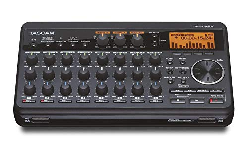 Tascam DP-008EX 8-Track Digital Pocketstudio Multi-Track Audio Recorder,Black