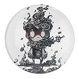 Marshadow Naruto Uchiha Itachi - Imanes de nevera de cristal - Juego de imanes de nevera de cristal para pizarra, imanes decorativos para niñas y niños (redondos/30 mm)