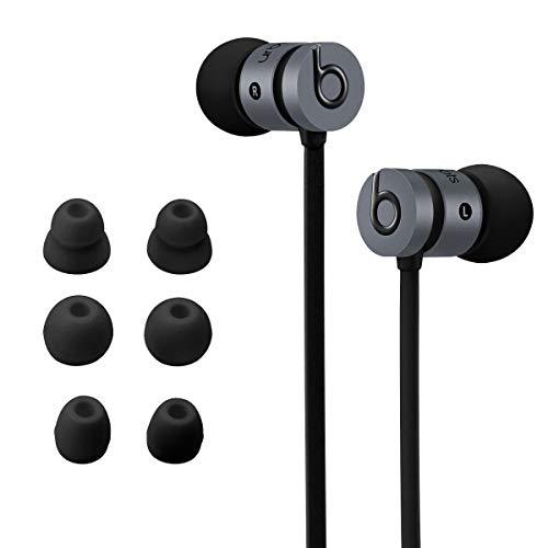 kwmobile 8X Almohadillas Compatible con Beats Urbeats 2.0 / Tour 2.0 / Tour 2.5 - para Cascos Silicona - 3 tamaños + 1 Doble Negro