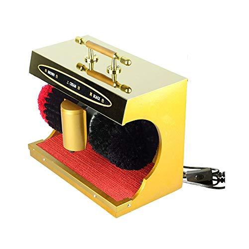 QFFL Máquina limpiabotas automático Pulidor Eléctrico de Zapatos, Máquina de Pulido Y Abrillantador Mecánico para El Pulido de Zapatos Por Inducción Automática Cepillo Eléctrico para Zapatos con Inter