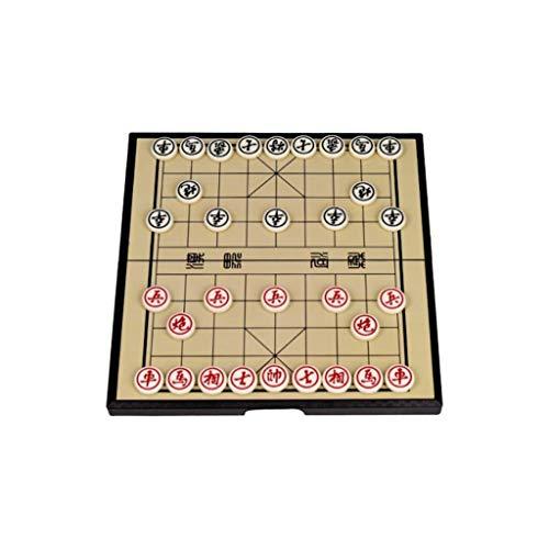 ZCYXQR Juego de ajedrez Ajedrez Tradicional de Madera Juego de ajedrez Chino Tablero de ajedrez Plegable Tablero magnético Envío de los Mejores Regalos para niños (Práctica de Juego Mental)