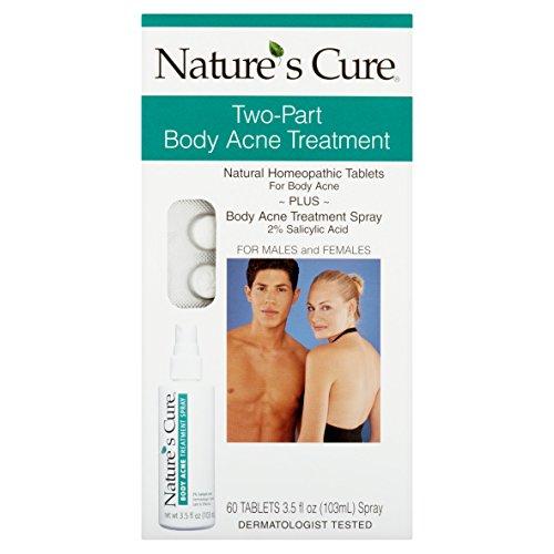 Nature's Cure Two-Part Body Acne Treatment, 3.5 Fl Oz