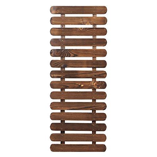 HTZ Mur anti-corrosion balcon en bois salon de fleurs salon bois massif mur suspendu étagère à fleurs fer à repasser pendentif porte-fleurs ++ (taille : 120 cm)