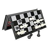 DJDEFK Tablero ajedrez Chess Backgammon Checkers Set Road Foldable Board Juego 3-In-1 International Ajedrez ( Color : 24cm )