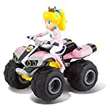 Carrera RC Nintendo Mario Kart 8 Peach Quad │ Remote-controlled car from 6 years for indoors & outdoors │ Mini Mario Kart car with remote control to take with you │ Toys for children and adults
