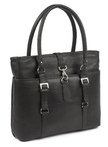 Claire Chase Ladies Computer Handbag, Black, One Size