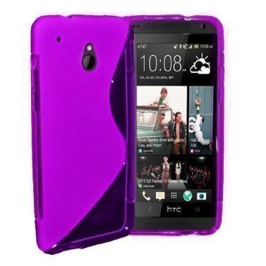 GADGET BOXX HTC ONE MINI M4 S-LINE Silikon-Gel in LILA ABDECKUNG FALL und Bildschirmschutz